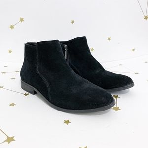 Gianni Bini • Black Suede Donnie Ankle Booties 6